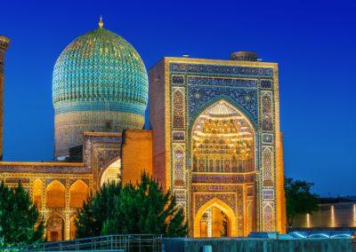1 Mausolee Gur e Amir au crepuscule