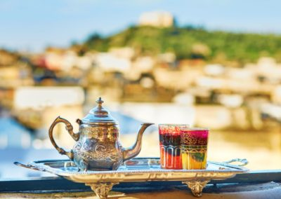 1 Service de the traditionnel marocain