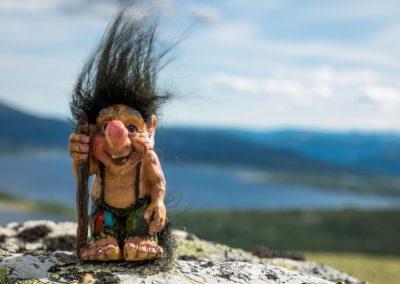 1 Troll scandinave cheveux au vent