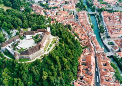 1 Vue aerienne sur Ljubljana