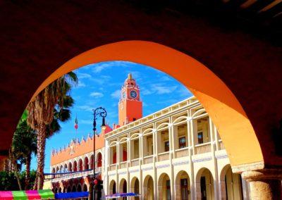 1 Vue sur le Palacio Municipal a Merida