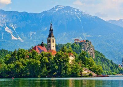 1 Vue sur le chateau de Bled