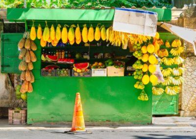 2 Marche de fruits tropicaux