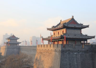 2 Vue sur les remparts de la forteresse de XiAn