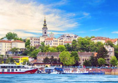 3 Vue sur le centre de Belgrade depuis la Save