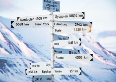 4 Panneaux a Longyearbyen