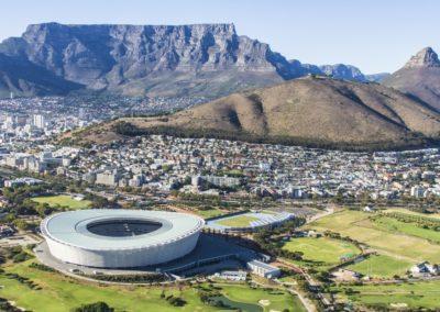 4 Table Mountain et Le Cap vus du ciel