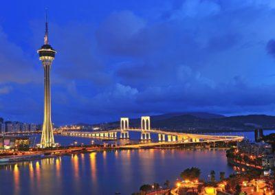 4 Vue sur la Travelling Tower de Macao