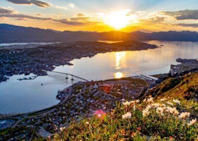 5 Soleil de Minuit au dessus de Tromso