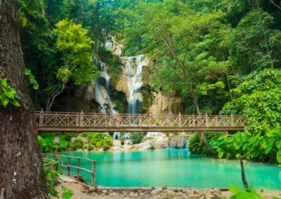 5 Vue sur la cascade de Kuang Si a Luang Prabang