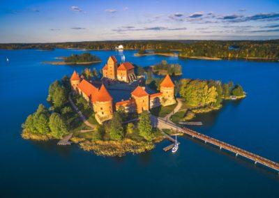 6 Vue sur le chateau de Trakai