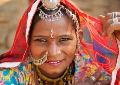 7 Visage dune femme indienne en sari