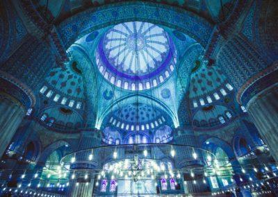 8 Interieur de la Mosquee Bleue Unesco