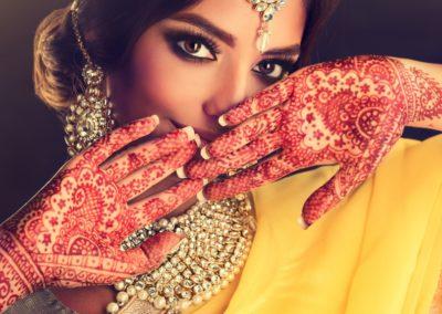 8 Visage dune jeune femme indienne