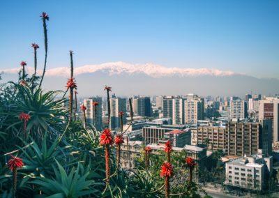 8 Vue sur Santiago et les Andes