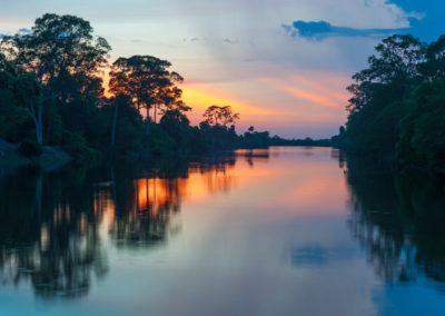 9 Coucher de soleil sur le fleuve Amazone