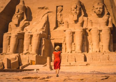 Entree du Temple Ramses II a Abou Simbel