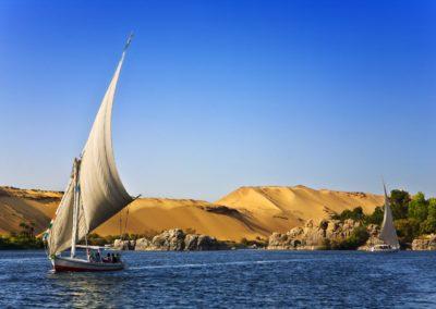 Felouque sur le Nil a Assouan